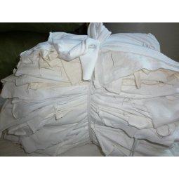 Vải lau trắng có may nối