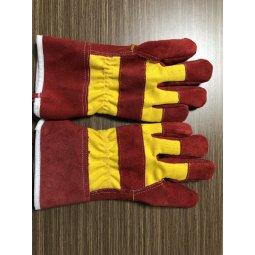 Găng tay da hàn cao cấp 2 lớp màu đỏ 26cm xuất khẩu