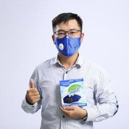 Khẩu trang than hoạt tính 4 lớp Asia Mask có van thoát khí