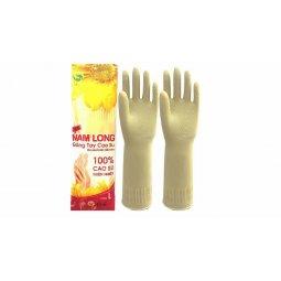 Găng tay cao su Nam Long - Vàng